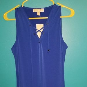 NWT Michael Kors Royal Blue Lace Up Dress